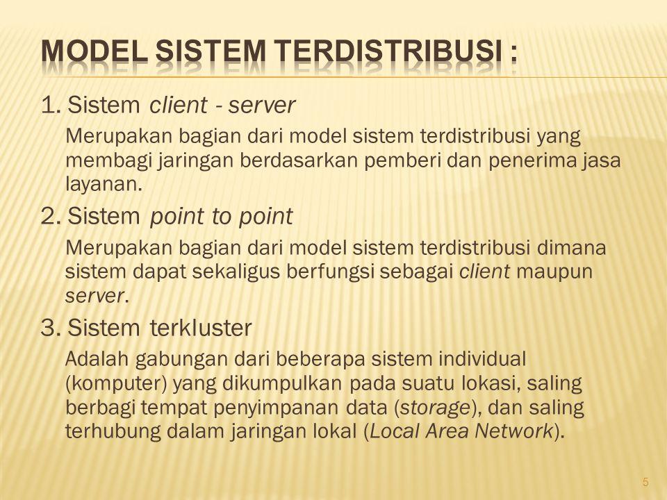 Model Sistem Terdistribusi :