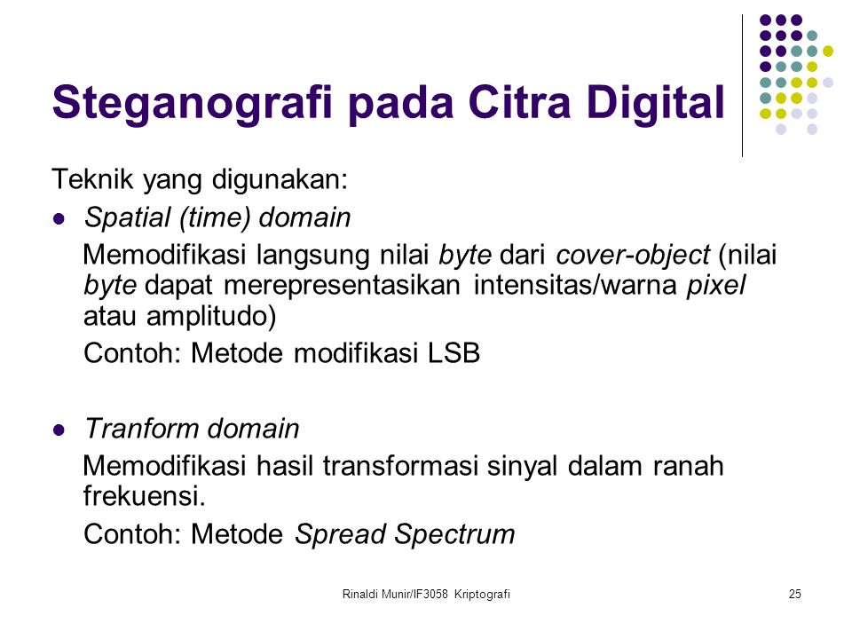 Steganografi pada Citra Digital