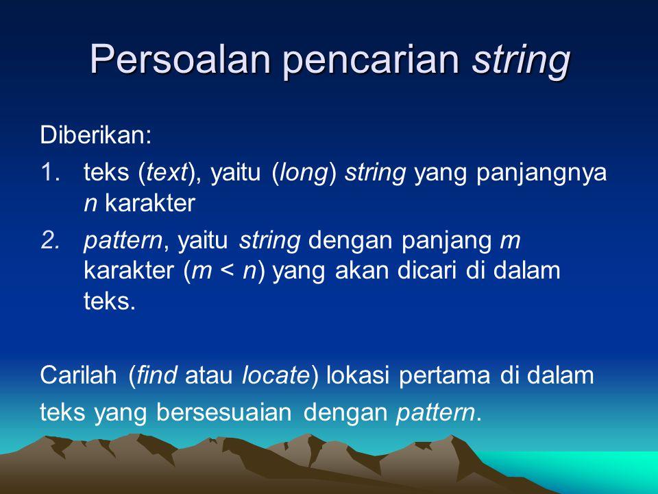 Persoalan pencarian string