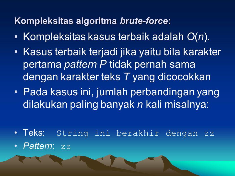 Kompleksitas algoritma brute-force: