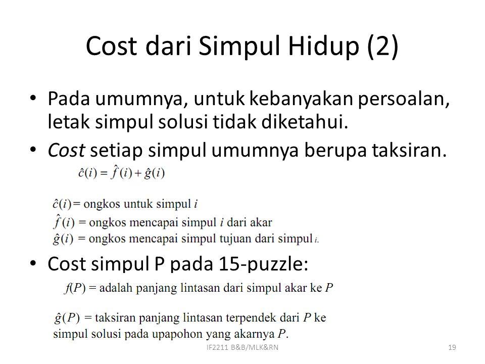 Cost dari Simpul Hidup (2)