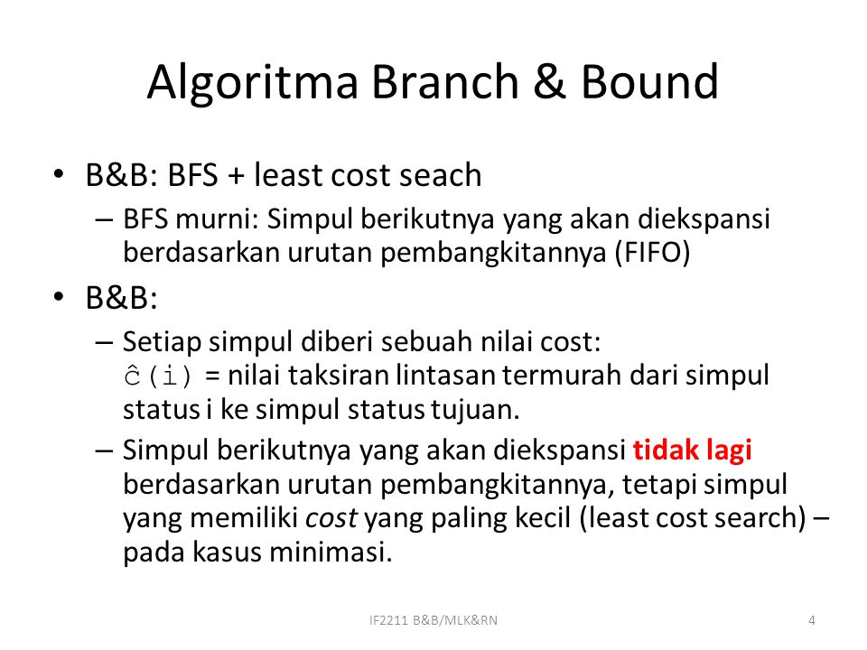 Algoritma Branch & Bound