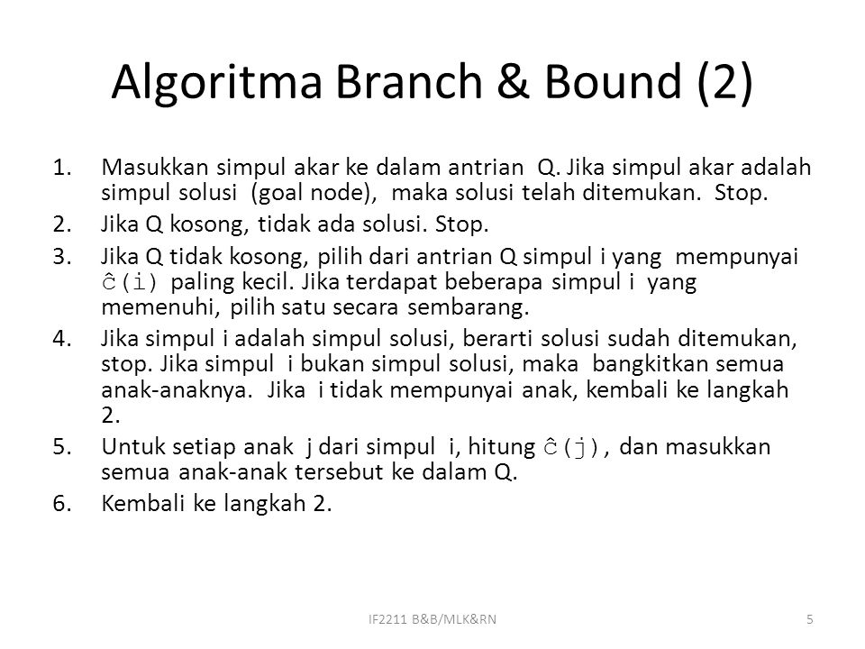 Algoritma Branch & Bound (2)