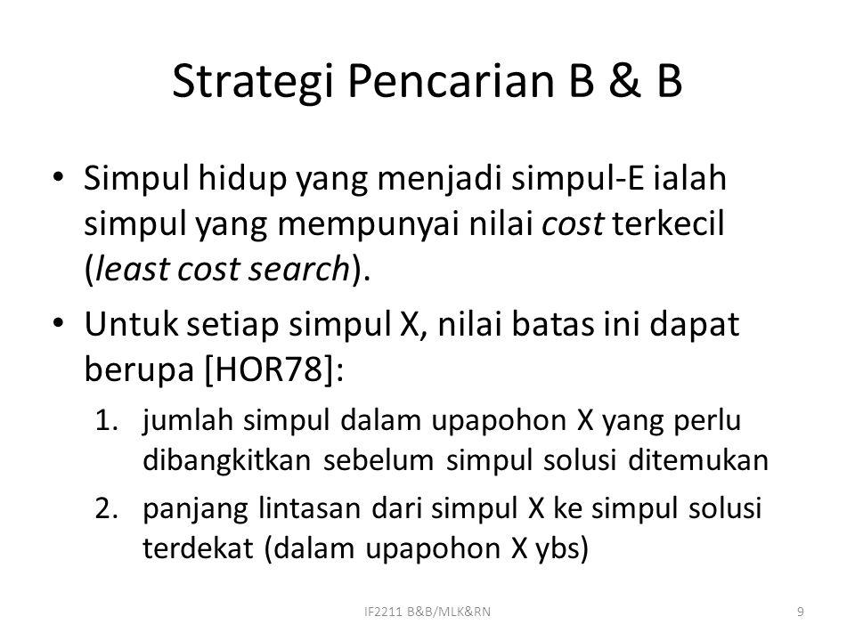 Strategi Pencarian B & B