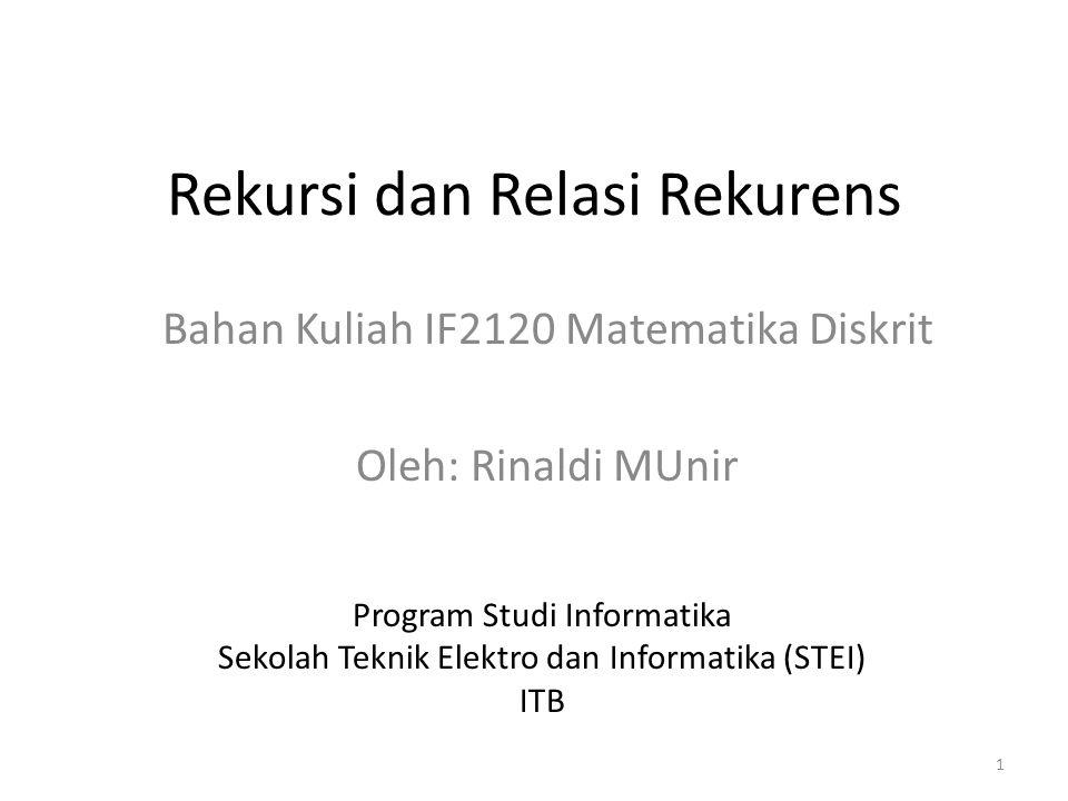 Rekursi dan Relasi Rekurens