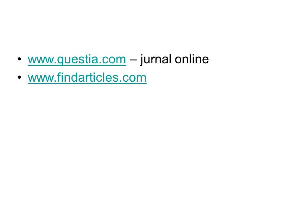 www.questia.com – jurnal online