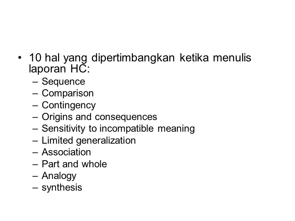 10 hal yang dipertimbangkan ketika menulis laporan HC: