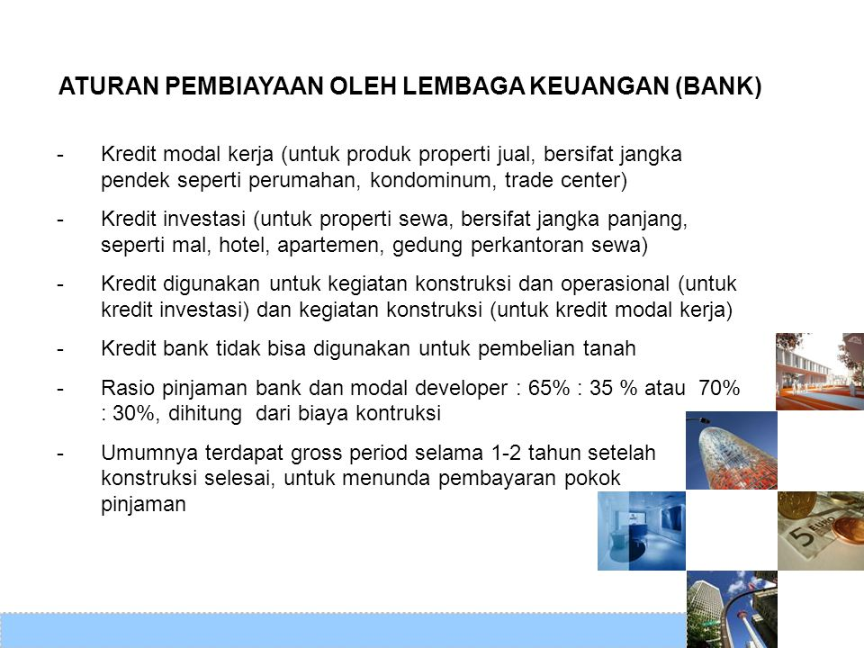 ATURAN PEMBIAYAAN OLEH LEMBAGA KEUANGAN (BANK)
