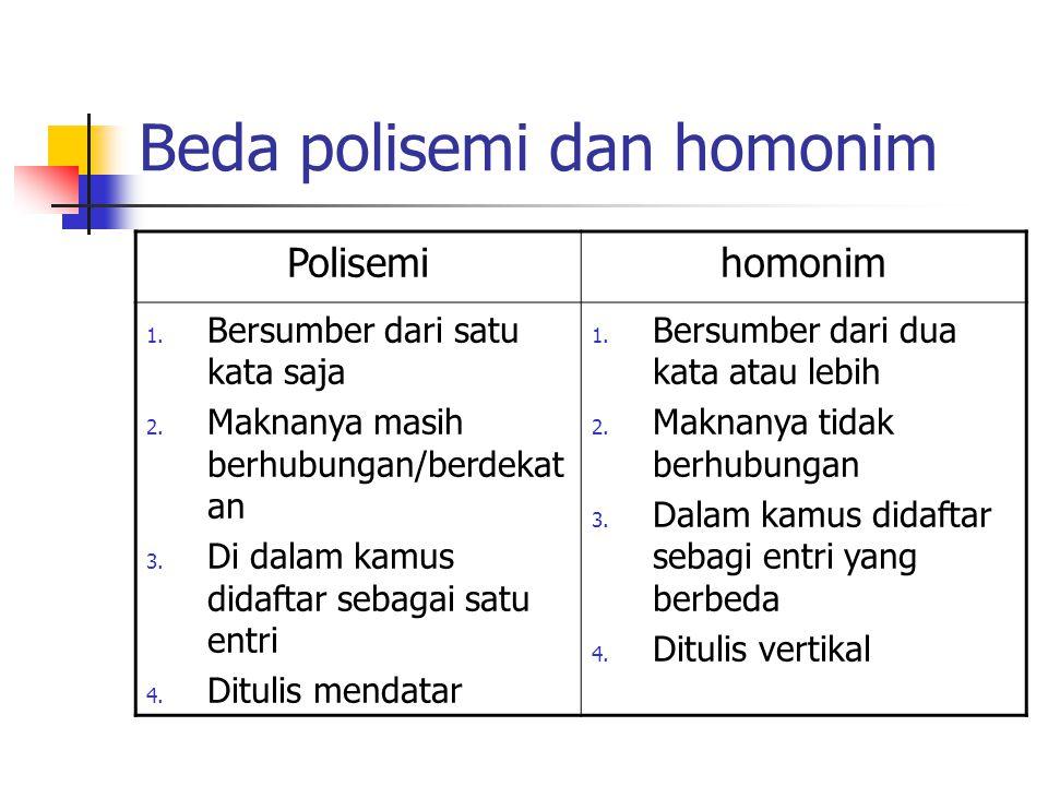 Beda polisemi dan homonim