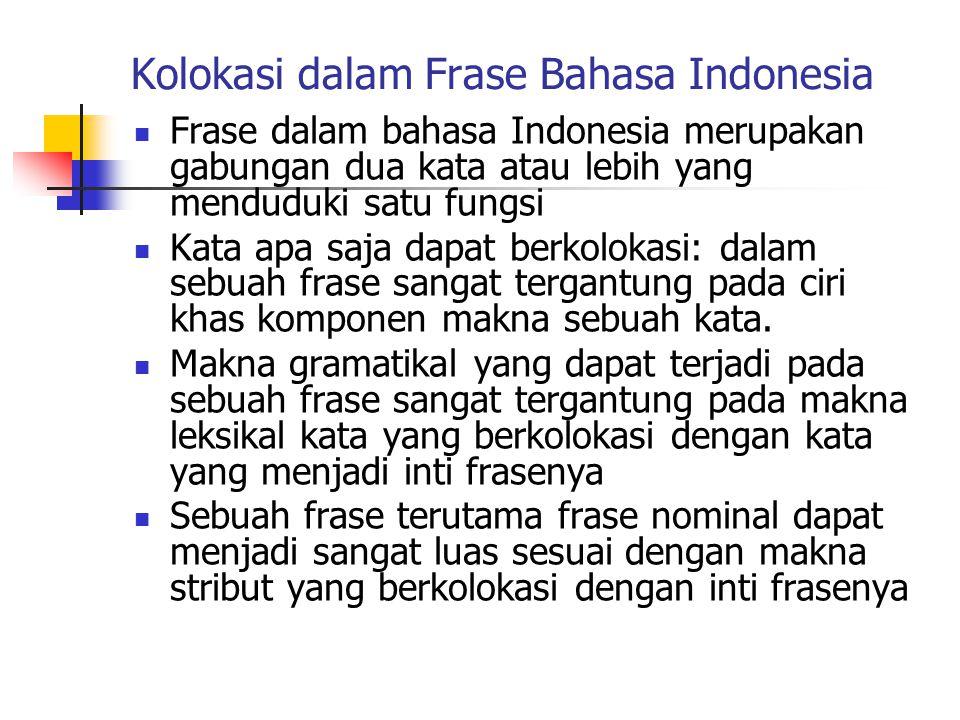 Kolokasi dalam Frase Bahasa Indonesia
