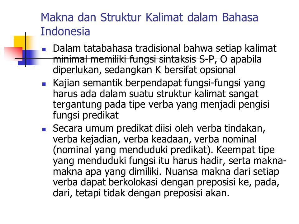 Makna dan Struktur Kalimat dalam Bahasa Indonesia