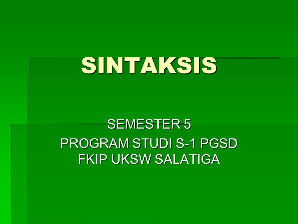 SEMESTER 5 PROGRAM STUDI S-1 PGSD FKIP UKSW SALATIGA