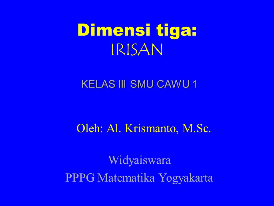 PPPG Matematika Yogyakarta