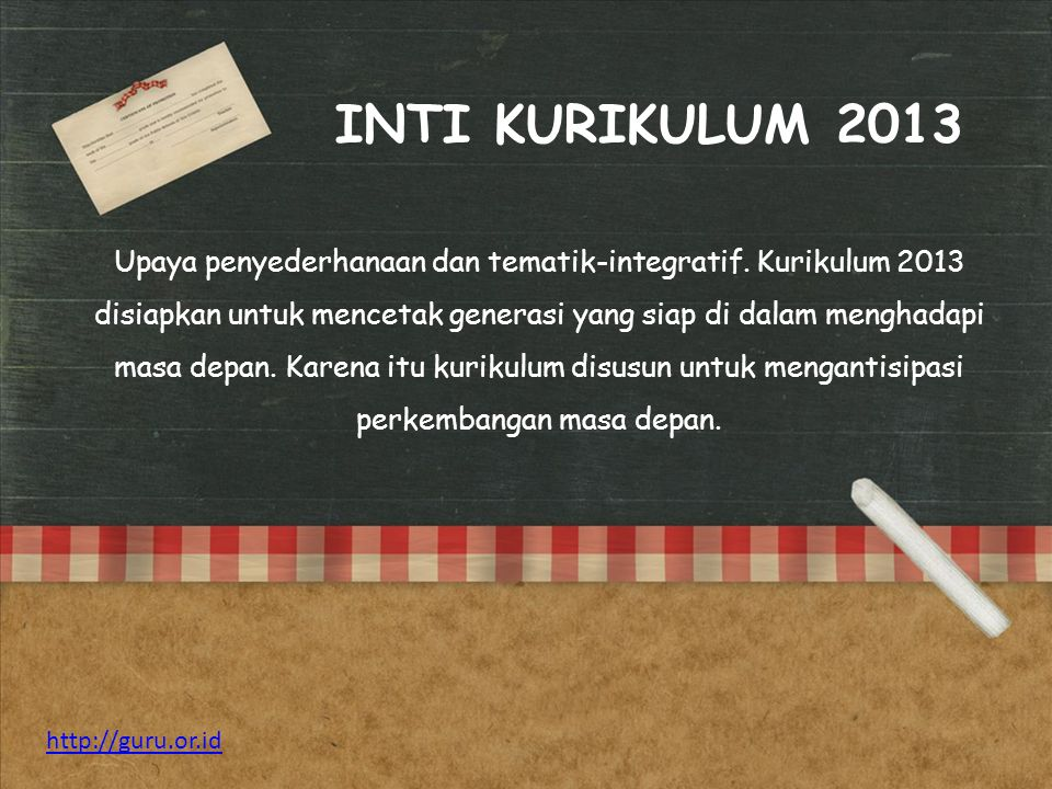 INTI KURIKULUM 2013