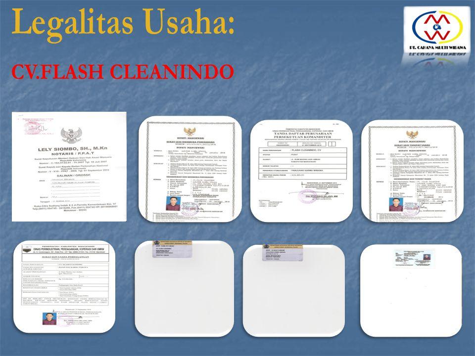 Legalitas Usaha: CV.FLASH CLEANINDO