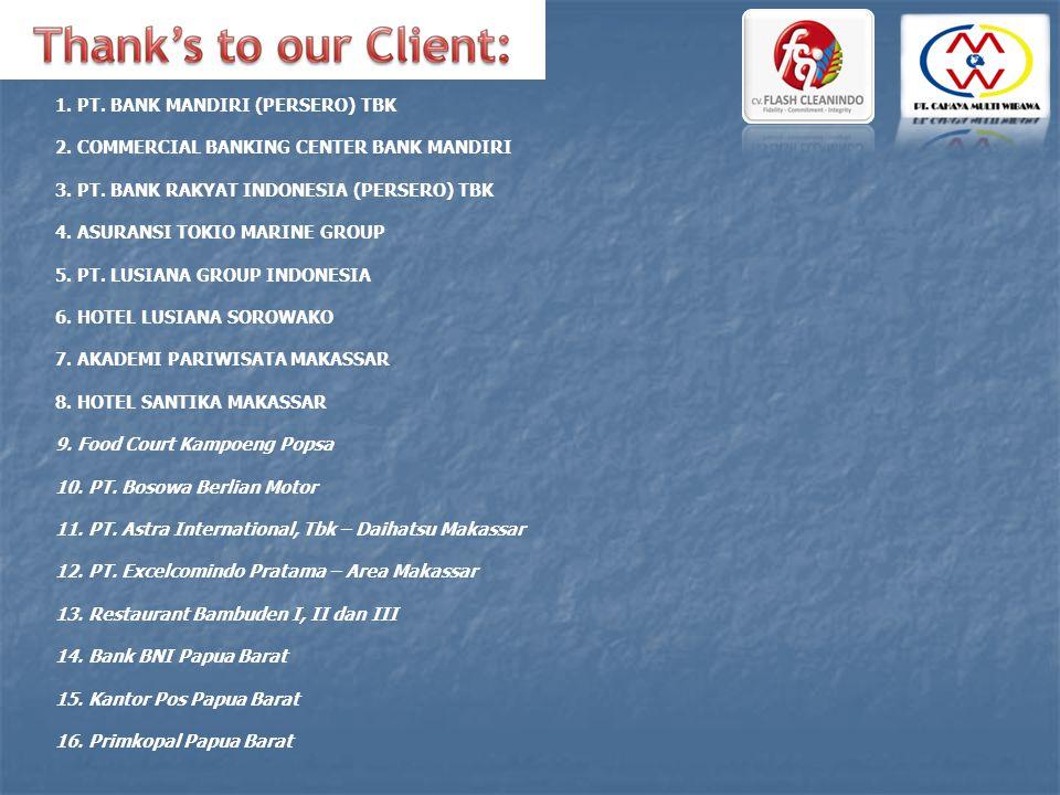 1. PT. BANK MANDIRI (PERSERO) TBK