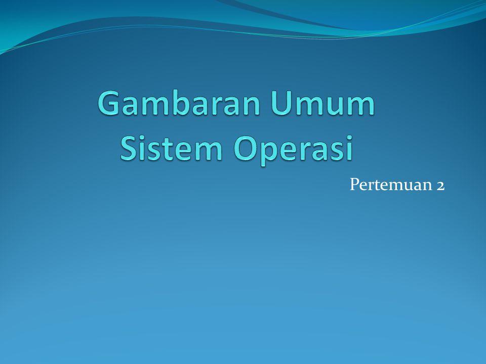 Gambaran Umum Sistem Operasi