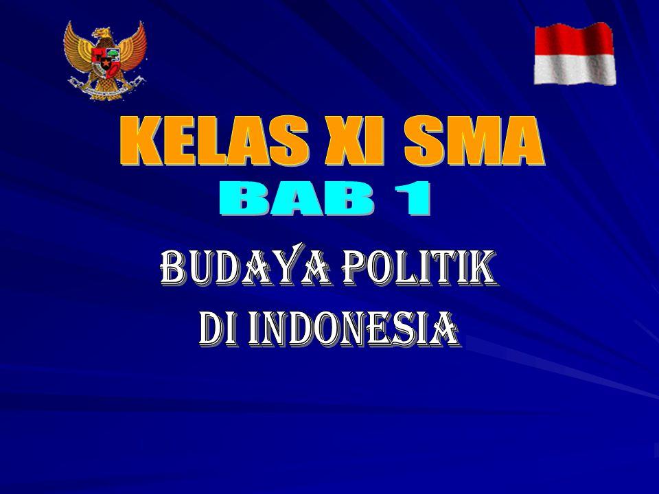 KELAS XI SMA BAB 1 BUDAYA POLITIK DI INDONESIA