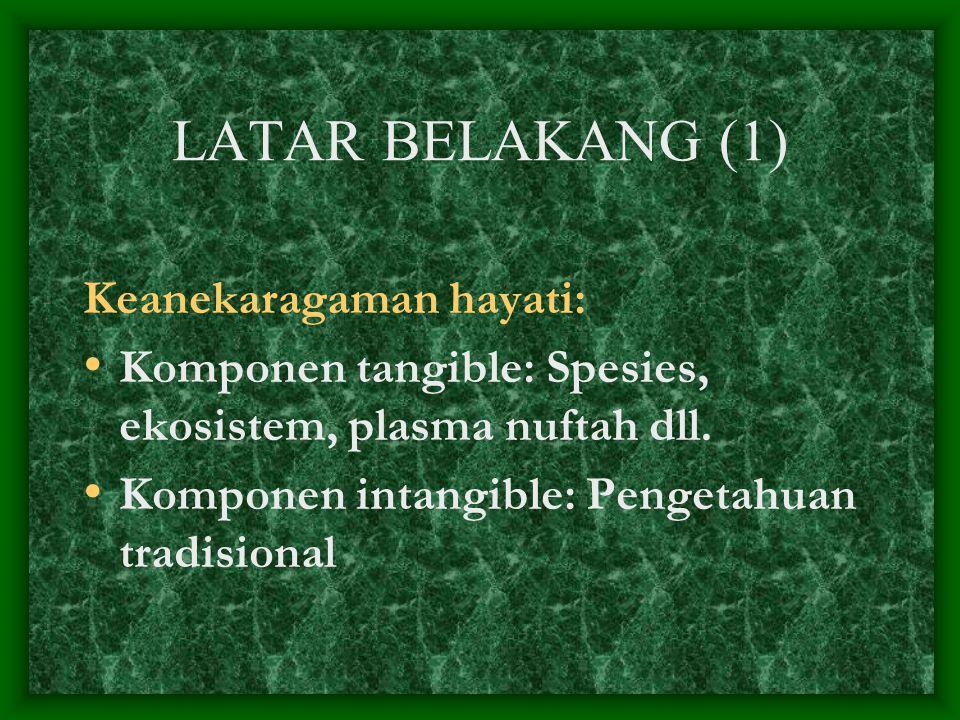 LATAR BELAKANG (1) Keanekaragaman hayati: