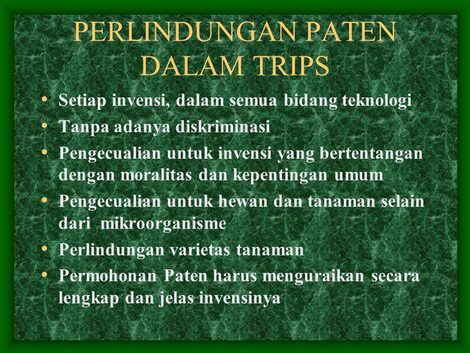PERLINDUNGAN PATEN DALAM TRIPS