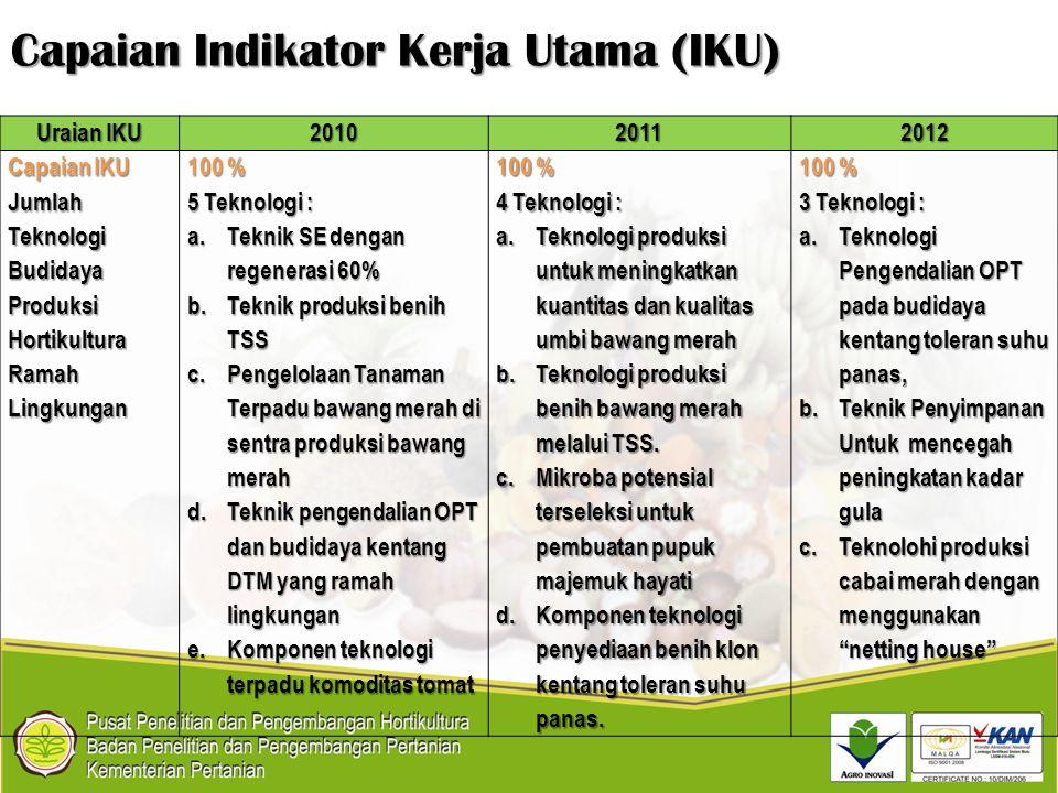 Capaian Indikator Kerja Utama (IKU)