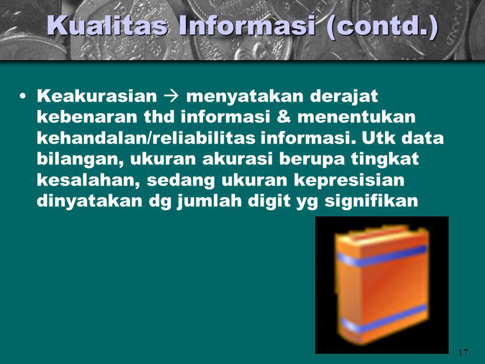 Kualitas Informasi (contd.)
