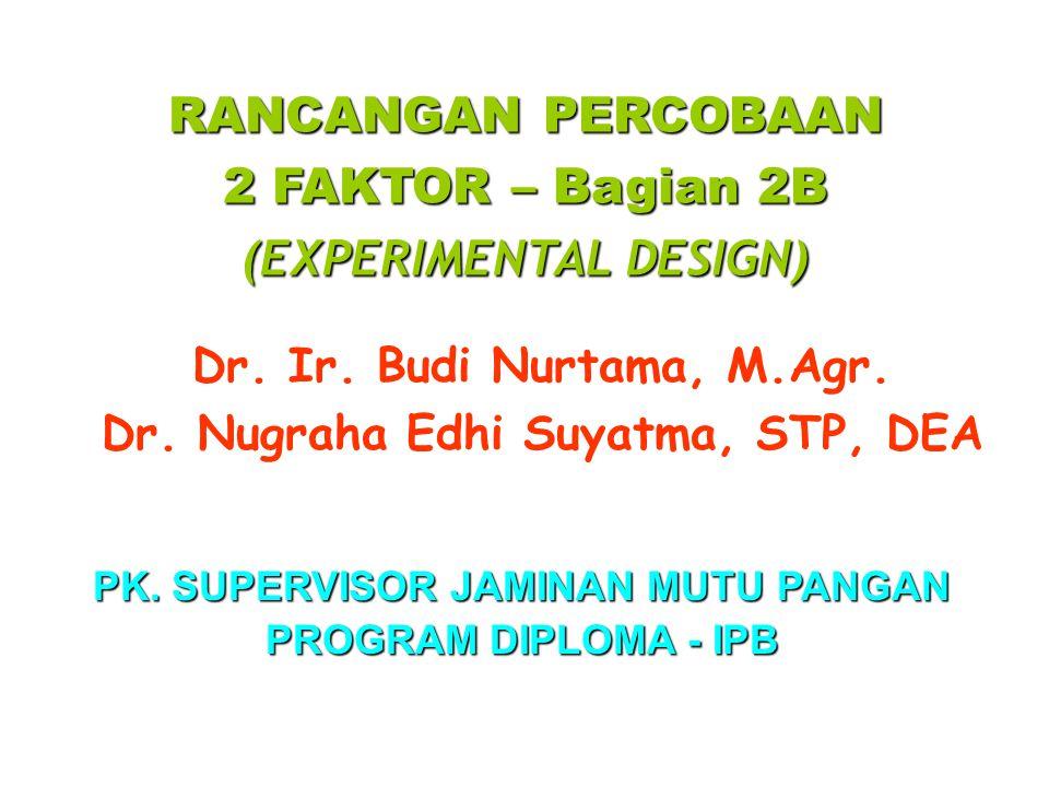 2 FAKTOR – Bagian 2B (EXPERIMENTAL DESIGN)