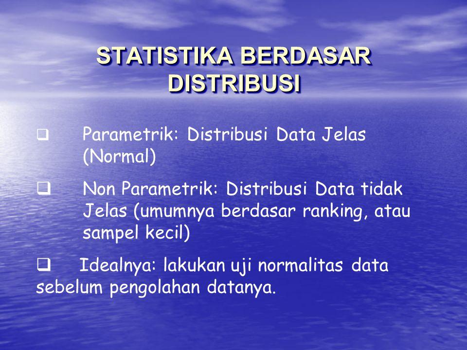 STATISTIKA BERDASAR DISTRIBUSI