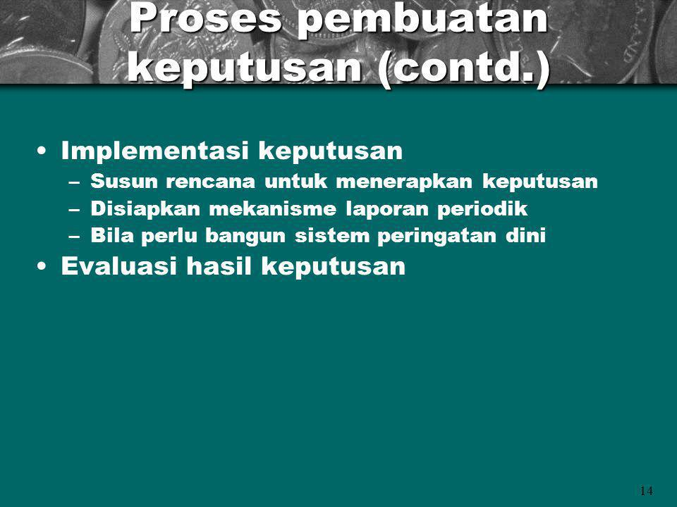 Proses pembuatan keputusan (contd.)