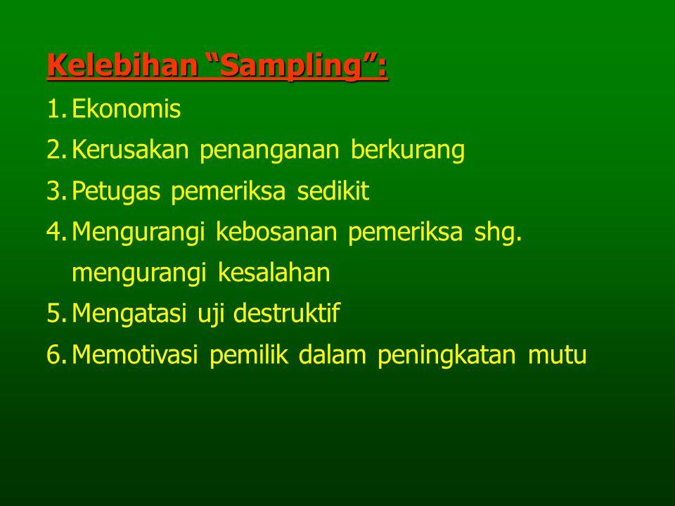 Kelebihan Sampling :