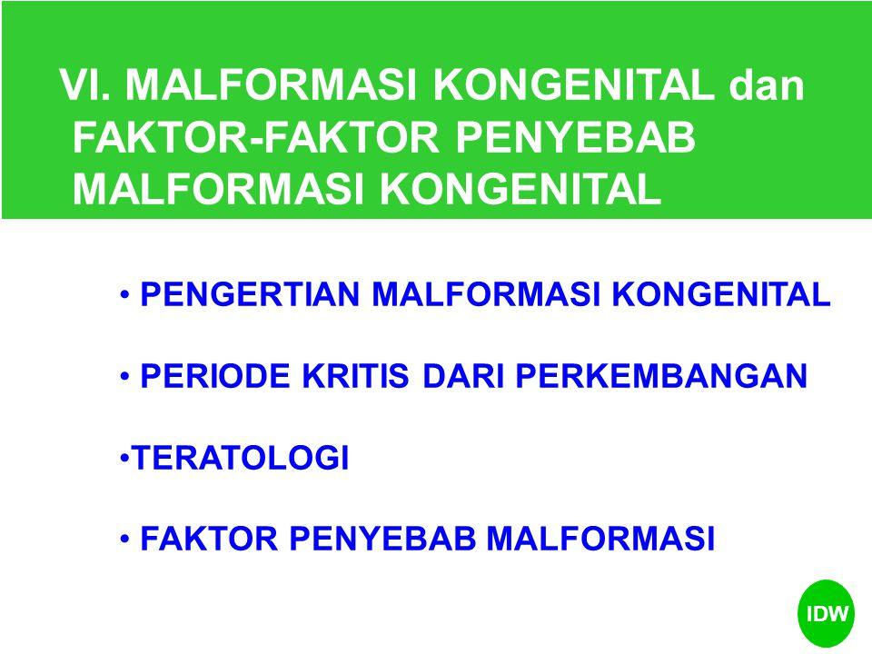 VI. MALFORMASI KONGENITAL dan FAKTOR-FAKTOR PENYEBAB