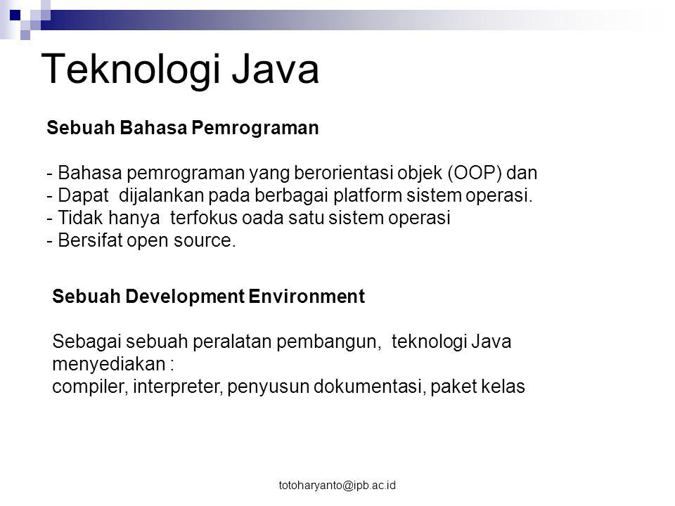 Teknologi Java Sebuah Bahasa Pemrograman