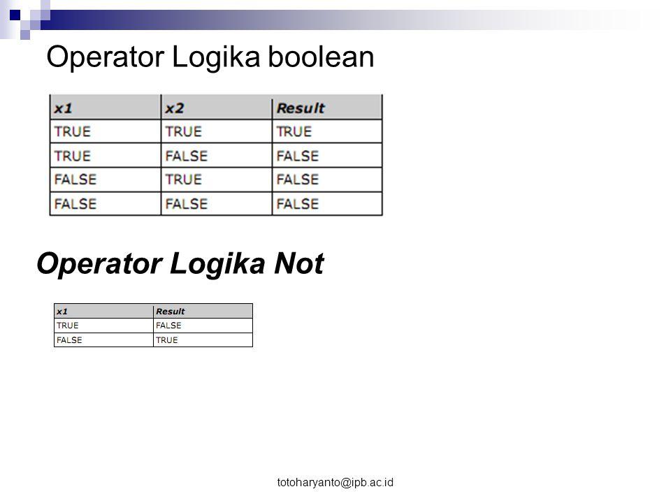 Operator Logika boolean