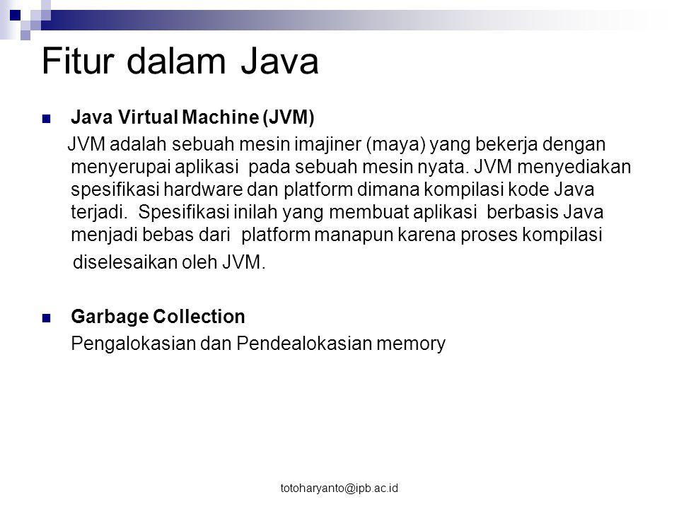 Fitur dalam Java Java Virtual Machine (JVM)