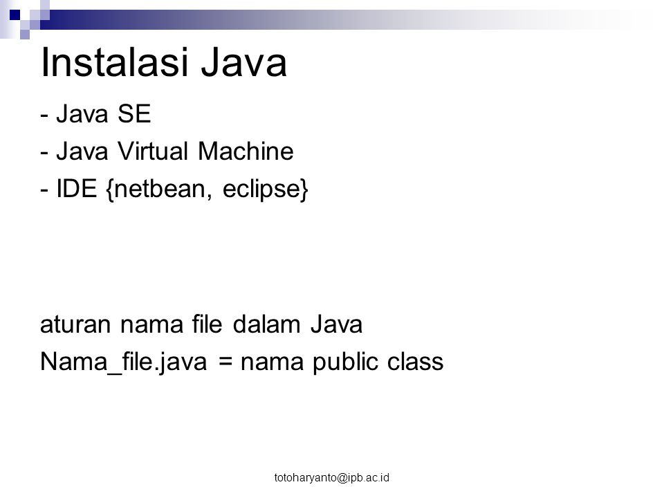 Instalasi Java - Java SE - Java Virtual Machine