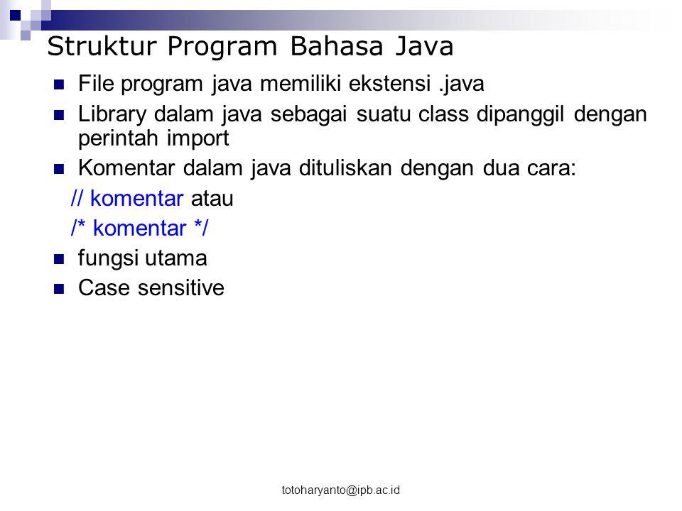 Struktur Program Bahasa Java