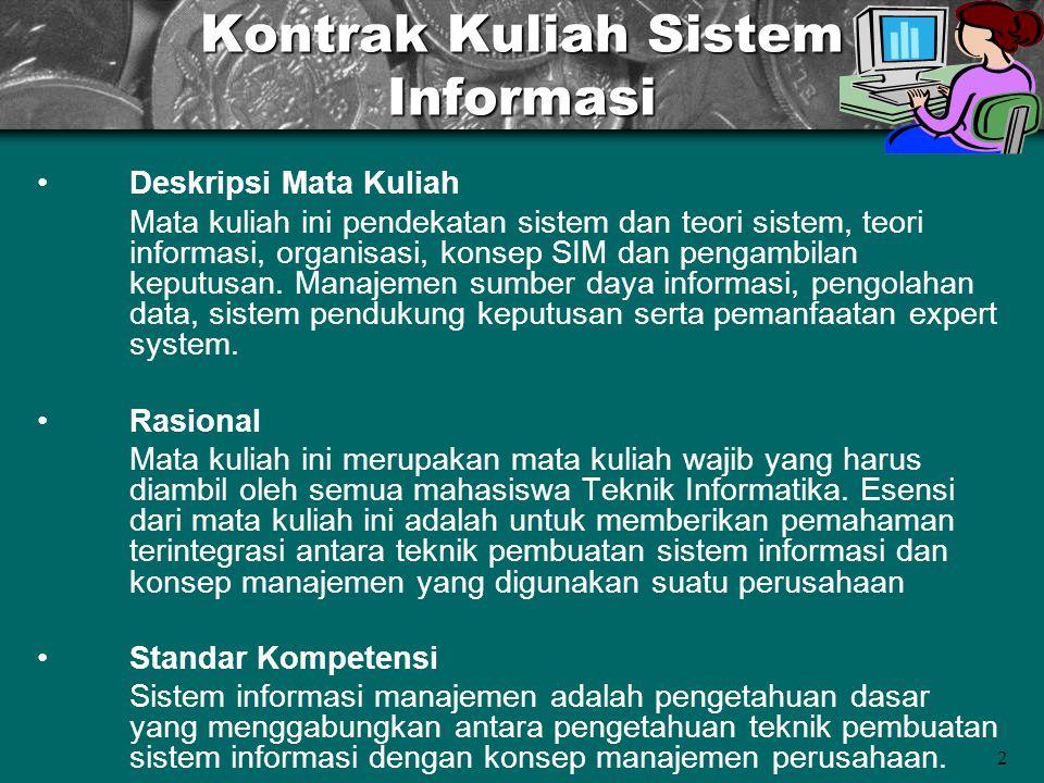 Kontrak Kuliah Sistem Informasi