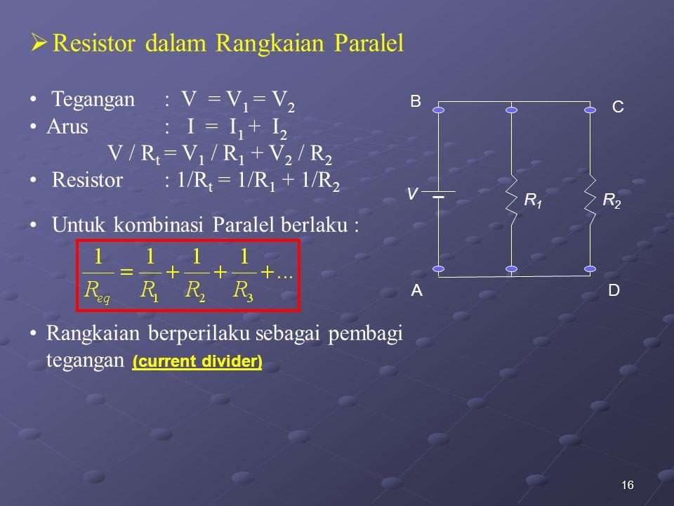 Resistor dalam Rangkaian Paralel