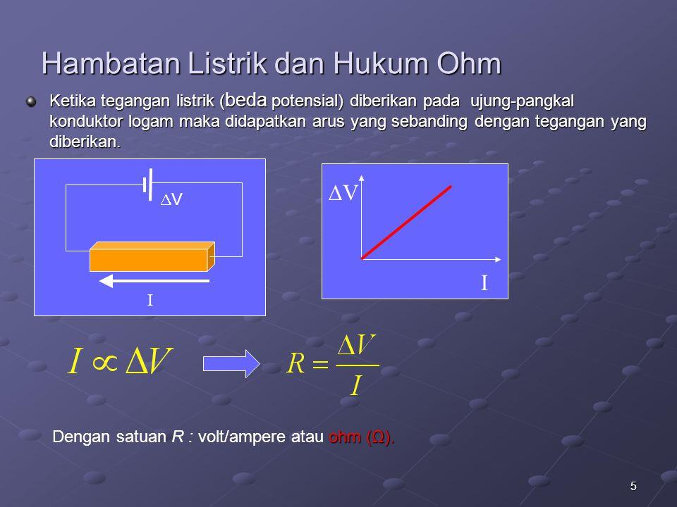 Hambatan Listrik dan Hukum Ohm