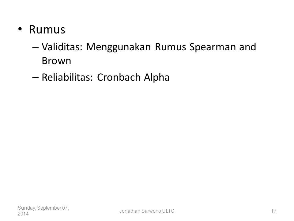 Rumus Validitas: Menggunakan Rumus Spearman and Brown