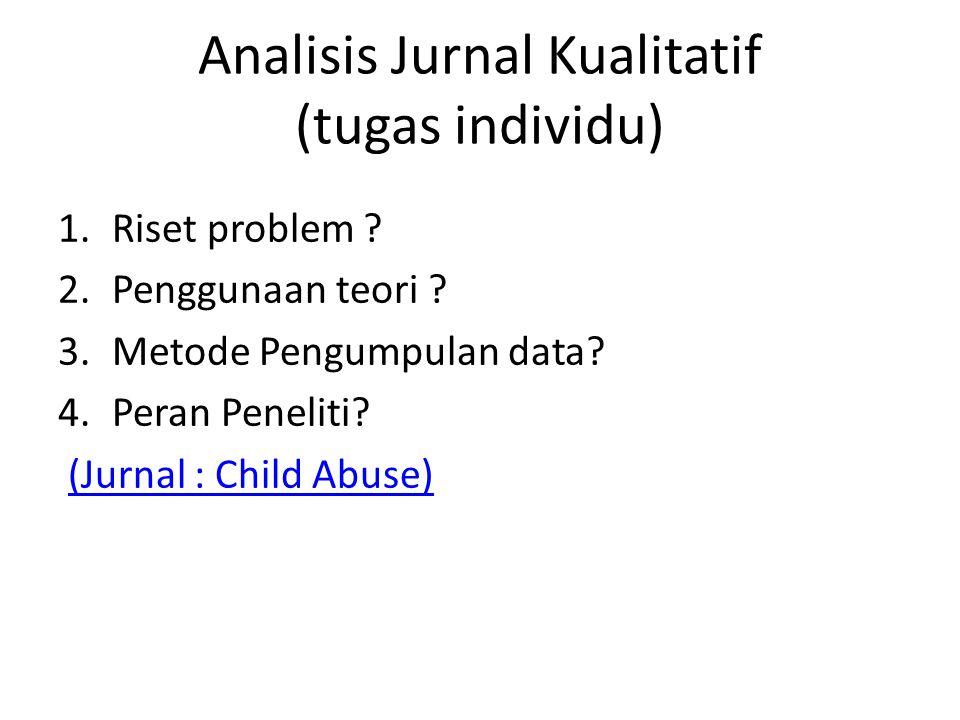 Analisis Jurnal Kualitatif (tugas individu)