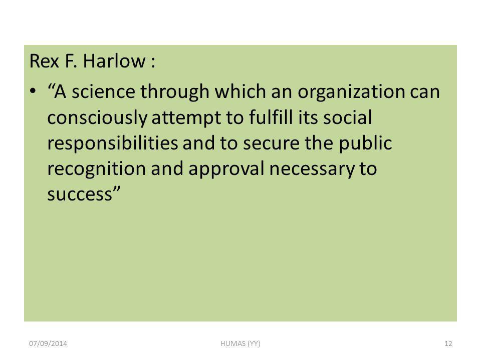 Rex F. Harlow :
