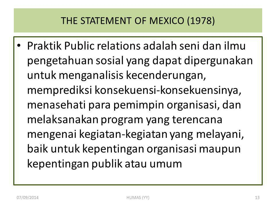 THE STATEMENT OF MEXICO (1978)