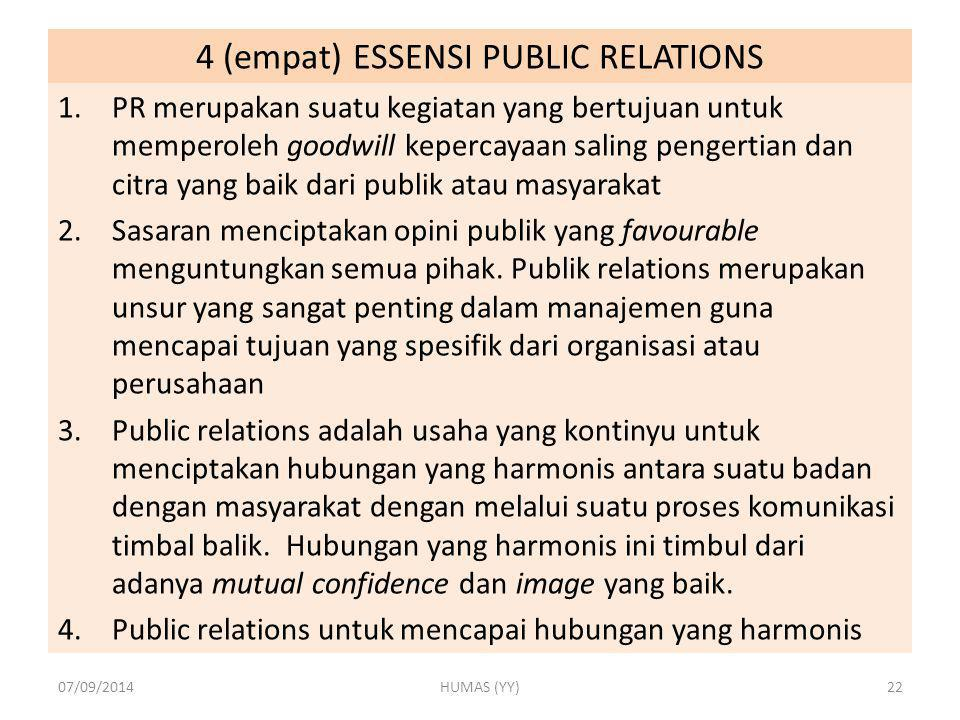 4 (empat) ESSENSI PUBLIC RELATIONS