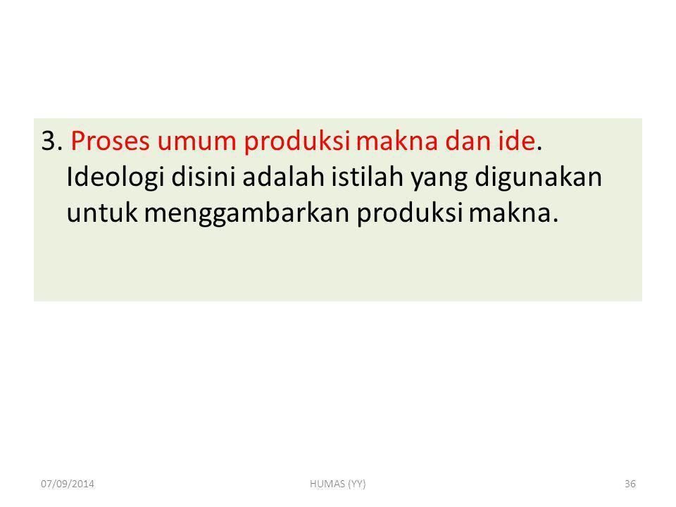 3. Proses umum produksi makna dan ide