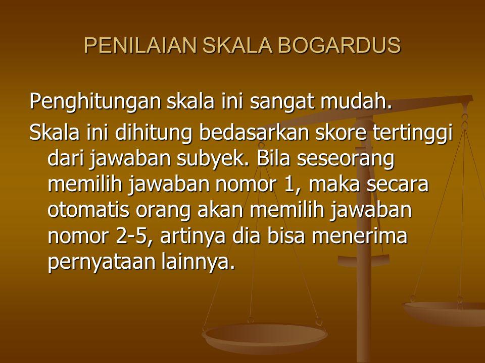 PENILAIAN SKALA BOGARDUS
