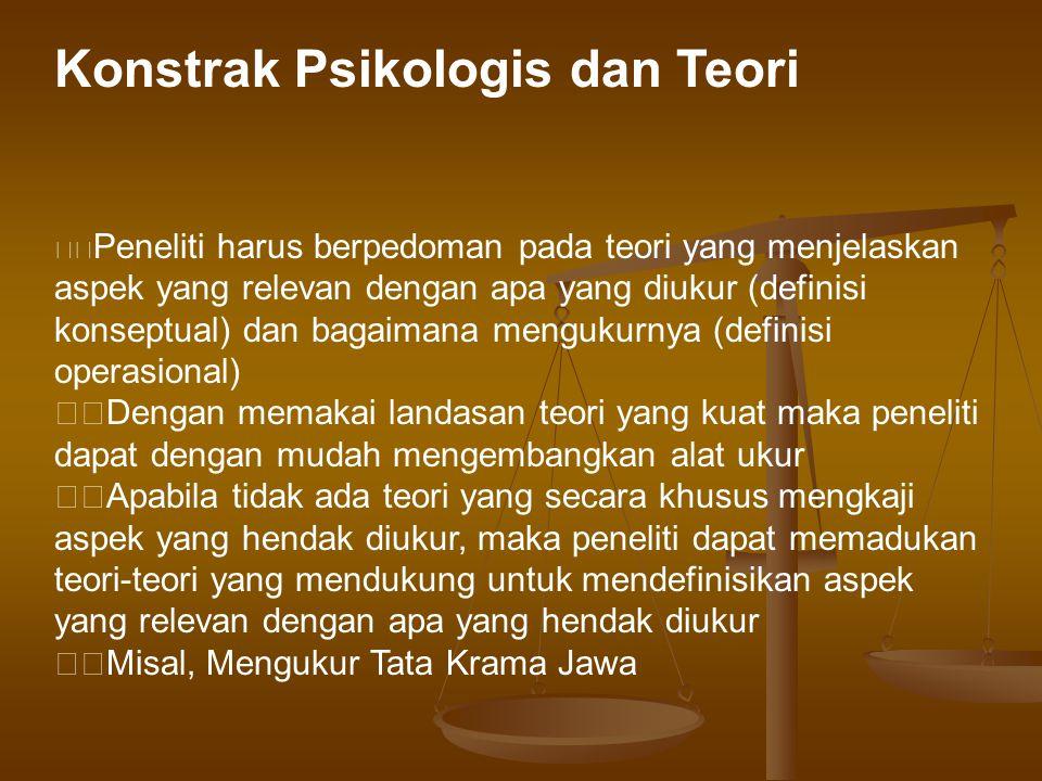 Konstrak Psikologis dan Teori