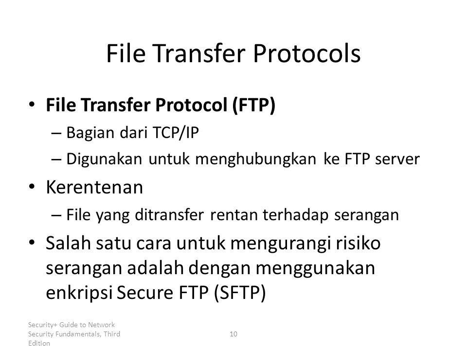 File Transfer Protocols