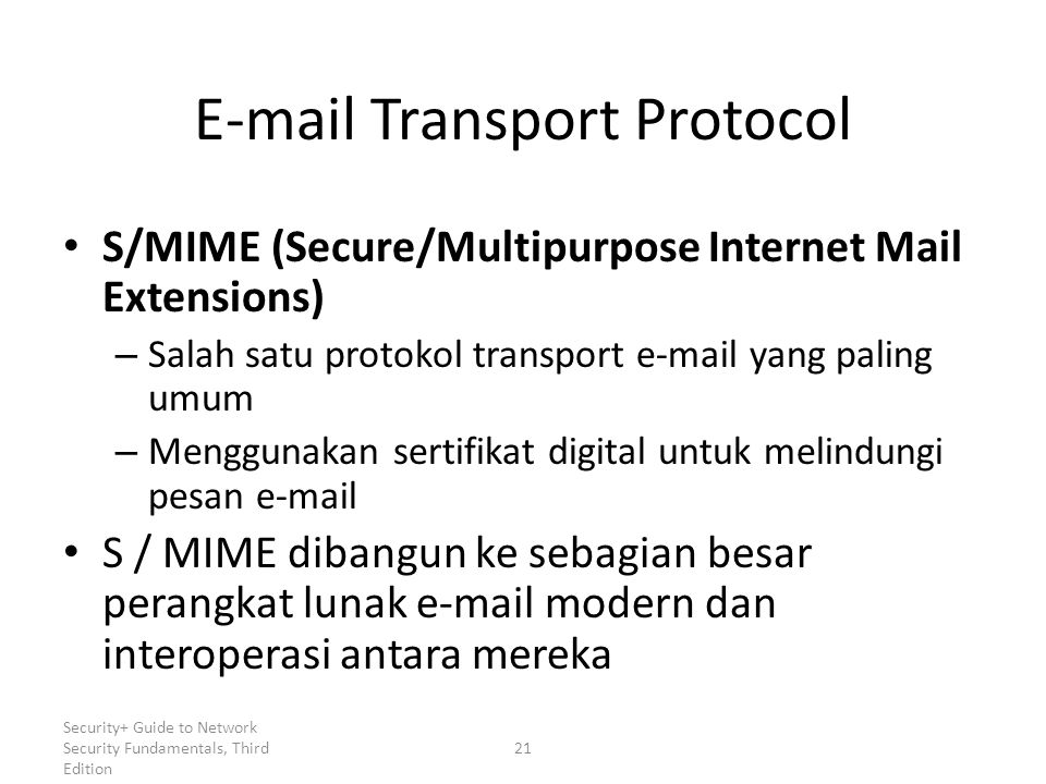 E-mail Transport Protocol