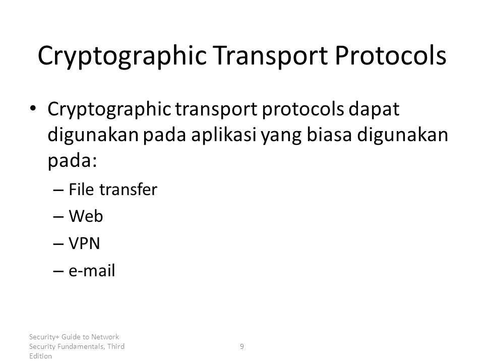 Cryptographic Transport Protocols